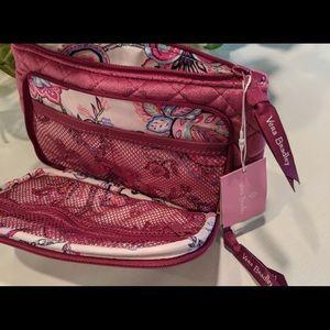 VERA BRADLEY Bag Cosmetic Pockets Zip Pink New